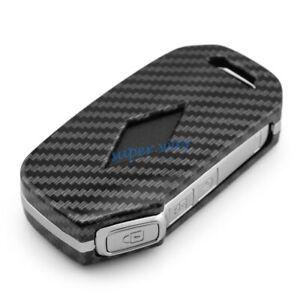 ABS Carbon Fiber Car Smart Key Cases Cover Holder Accessories For Kia Soul Forte
