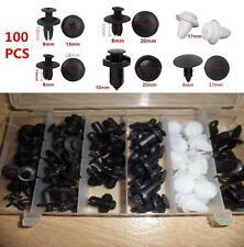 100pcs  Car Door Fender Push Pin Rivets Trim Clips Panel Moulding Assortments