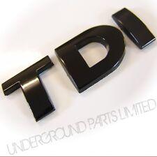 BLACK TDI BADGE VOLKSWAGEN VW BORA JETTA TRANSPORTER CADDY VAN T5 TURBO DIESEL