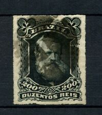 Brazil 1878-9 SG#62 200R Emperor Pedro II Rouletted Used #A22859