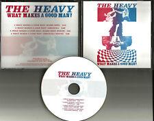 THE HEAVY What Makes a Good man RADIO EDIT & INSTRUMENTAL PROMO DJ CD Single