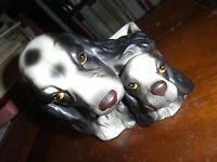 Napcoware  Dog Planter Springer / Cocker Spaniel Mother & Puppy C8953
