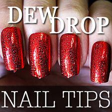 2012 NEW Series 60 PCS Dew Drop Metallic False Full Nail Tips 204-5 Red
