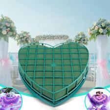 1x Oasis Floral Wet Foam Heart Frame Shape Set Florist Fresh Flowers Wedding