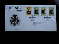 JERSEY 1972 ROYAL JERSEY MILITIA Issue FDC 4 values to 9p Illustrated Cover