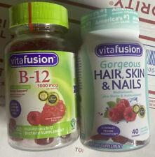 Vitafusion Hair Skin & Nails 40 Gummies & 60 Vitamin B12 Gummies