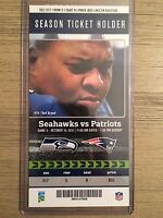 2012 Seattle Seahawks vs New England Patriots 10/14/12 Official NFL Ticket Stub