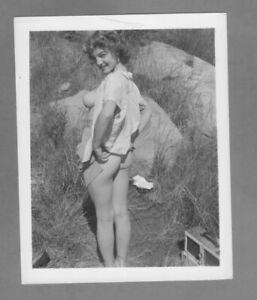 Curvaceous Beauty 1950`s  ORIGINAL silver gelatin, fiber base 4x5 photograph.
