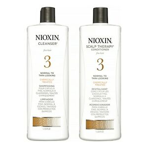 Nioxin System 3 Cleanser & Scalp Therapy Conditioner Duo, 33.8 Oz