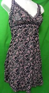 NEW HANKY PANKY 595304 CROSS-DYED MADE IN USA NBPP SIGNATURE LACE CHEMISE M