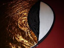 Etekcity 43 Inch Round Gold/Silver/White/Gray Mulit Collapsible disc Reflector