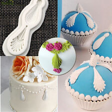 3D Relief Gem Silicone Fondant Mold Cake Border Decoration Sugar Paste Mould