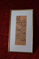 Unique dessin original Lebadang plume encre de Chine sur papier signé 1956