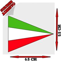 Sticker Adesivo Decal Bandiera Bandierina Tricolore Italia triangolo