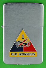 1st ARMORED DIVISION WINDPROOF PREMIUM LIGHTER &GIFT BOX ARMY ACR SBC131