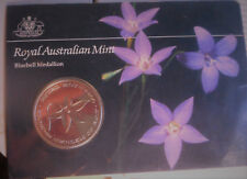 Australia RAM Royal Australian Mint Bluebell  Medallion in card (wear)