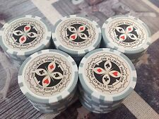 50 Laser Poker Chips, 1 The Ultimate, für Pokerkoffer Pokerset Metallkern schwer