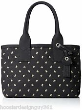 MARC JACOBS M0007851 Embroidered Fruit Large Tote Cotton Canvas Black NWT