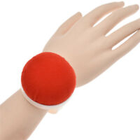 Red Ball Shape Needle Pin Cushion Plastic Wrist Sewing Accessories DIY Handcraft