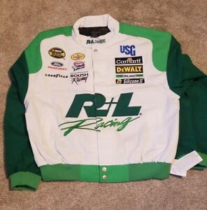 Matt Kenseth Roush Racing R & L Carriers DeWalt Green Coat Jacket NASCAR New