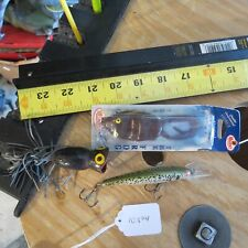 "Manns  ""The Frog"" fishing lure and other bass fishing lures (lot#10394)"