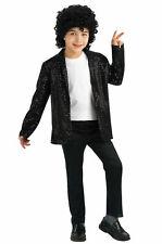 Deluxe Michael Jackson Billie Jean Jacket Child Costume BOYS BLACK SEQUIN BLAZER