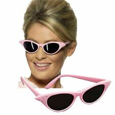 Pink Ladies Sunglasses Grease Lady Frenchy Rizzo Sandy Womens Fancy Dress New