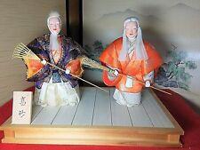 "Beautiful Vintage Traditional Japanese Kimekomi doll Noh ""Takasago""  japan #1038"