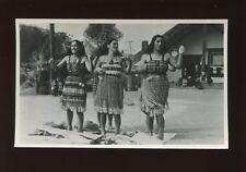 New Zealand ROTORUA Maori women dancing RP Plain back c1950/60s?