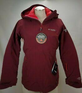 Columbia Omni Tech Heat Interchange 3 1 Down Ski Jacket Coat Red Waterproof Hood