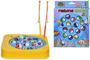 Rotating Magnetic Crazy Fish Fishing Game Kids Educational Toys