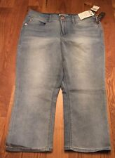 NWT Women's SEVEN 7 SVR Fox Blue Capri Pants Size 10 $59