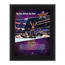 WWE BIG CASS SUMMERSLAM 2017 PAY PER VIEW COMMEMORATIVE FRAMED PLAQUE BRAND NEW