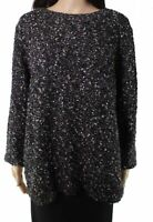 Skye's The Limit Womens Sweater Black Size Large L Textured Pullover $59 210