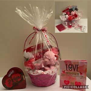 💖Valentine's Day Women Aloe Spa Bath Body Day Beauty Chocolate Gift Basket Set