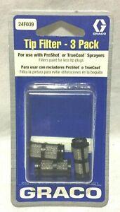 GRACO 24F039 TIP FILTER PROSHOT/ TRUECOAT 3 PACK  OEM