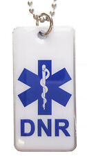 DTN-7 DNR Do Not Resuscitate Epoxy Fiilled Necklace / Keychain