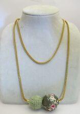 "25"" Pilgrim Jewelry Beautiful Asian Inspired Fabric Balls Pendant Necklace: C"