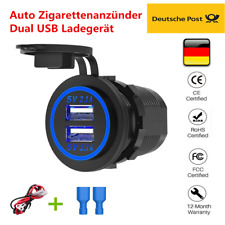 4.2A LED Dual USB Buchse Steckdose für BMW Motorrad Zigarettenanzünder 12V-24V