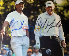Tiger Woods & Phil Mickelson Autographed 8x10 Signed Photo reprint
