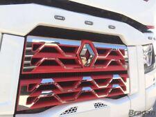 Para adaptarse a Renault T gama superior rejilla frontal inferior Cromo Trim Set Camión