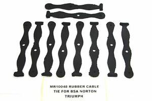 """10 x BSA TRIUMPH MATCHLESS Ajs 4 1/2"""" Long RUBBER CABLE TIE 60-0343 *WHOLESALE"""