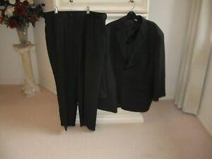 Men's 2 Piece Suit Black Thin Grey Pencil Line Design Rogue Polyester 100% Lined