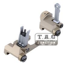 Tactical Set 300M MK18 Flip Up Iron Sights Folding BUIS Picatinny Rail Sight DE