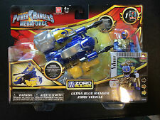POWER RANGERS MEGAFORCE BLUE RANGER ZORD BNIB combines with megazord