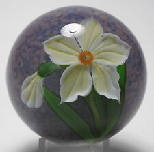 Mayauel Ward Yellow Flower and Bud Paperweight 2003