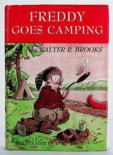 FREDDY GOES CAMPING WALTER R BROOKS KURT WIESE ILLUSTR 1ST HC DUST JACKET 1948