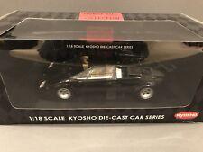 1/18 Kyosho Lamborghini Countach LP500 BLACK MINT & Brand NEW 08322K LP5000S
