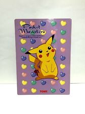 Pokemon plastic sheet / TOMY / Not for sale / Old Rare / made in Japan