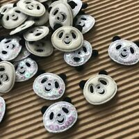 """40 pc x 1"""" Mix Padded Glittered Sequined Felt Panda Appliques Baby Shower ST155B"""